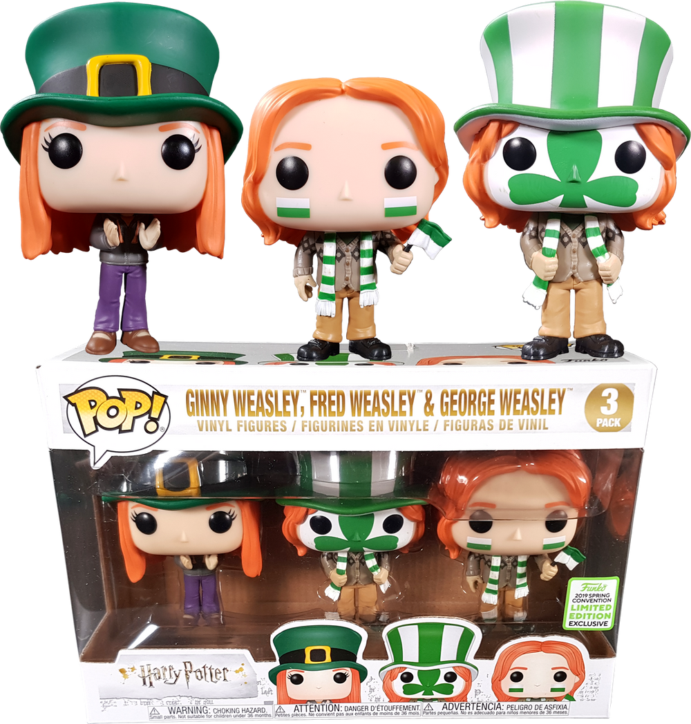 Harry Potter - Ginny, Fred & George Weasley Quidditch World Cup Pop! Vinyl Figure 3-Pack (2019 Spring Convention Exclusive) - Rogue Online Pty Ltd