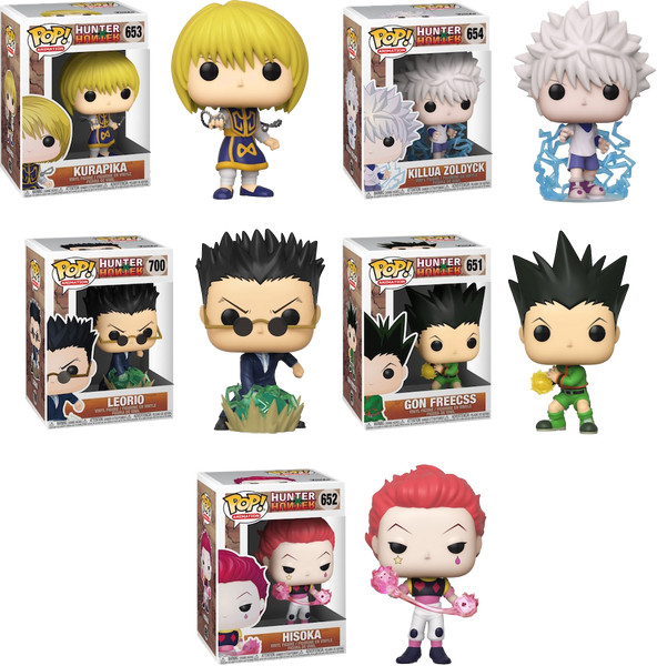Hunter X Hunter Funko Pop! Vinyl Bundle Set of x5 - US IMPORT (Pre-Order) - Rogue Online Pty Ltd
