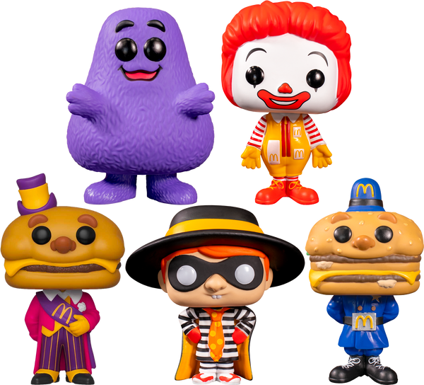 McDonald's - Happy Meal Pop! Vinyl Bundle (Set of 5) - Rogue Online Pty Ltd