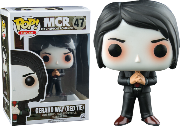 My Chemical Romance - Gerard Way with Red Tie Pop! Vinyl Figure - Rogue Online Pty Ltd