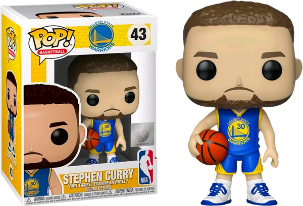 NBA Basketball - Stephen Curry Golden State Warriors Blue Jersey Pop! Vinyl Figure (RS) - Rogue Online Pty Ltd