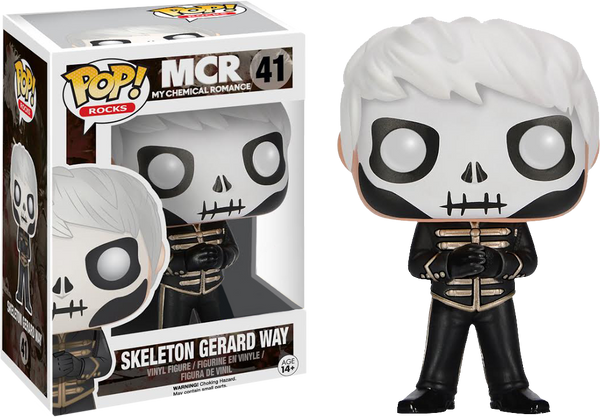My Chemical Romance - Gerard Way The Black Parade Skeleton Face Pop! Vinyl Figure - Rogue Online Pty Ltd