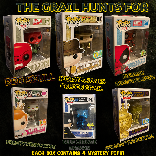 Mystery Blind Box Funko Pop! Vinyl - The Grail Hunts - Rogue Online Pty Ltd