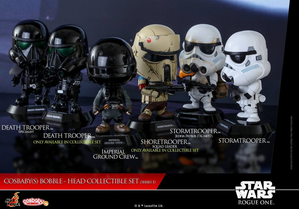 Hot Toys: Star Wars - Rogue One - Cosbaby Series 1 Bobble Head Figures (Set of 6) - Rogue Online Pty Ltd