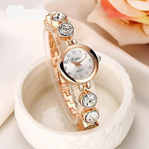 Gold and Ice Ladies Watch, Watch - ADVERSITY GEAR
