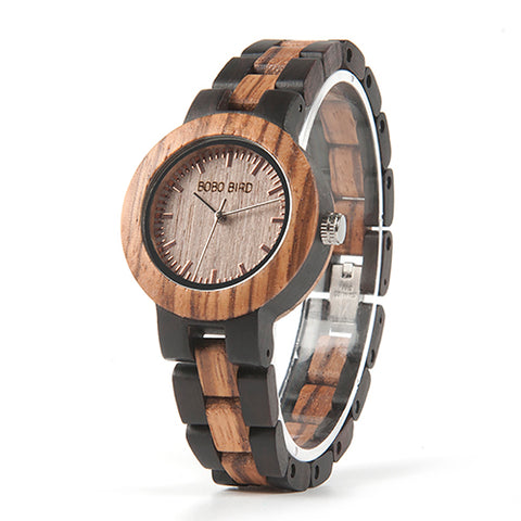 Zebrawood Womens Wooden Watch, Watch - ADVERSITY GEAR