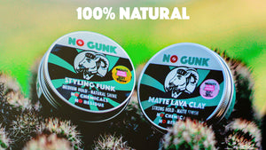NO GUNK Natural Hair Styling Wax Clay Haircare Products For Men Styling Funk Matte Lava Clay Organic Putty Gel Fibre Balm For Thin Thick Asian Wavy Straight Curly