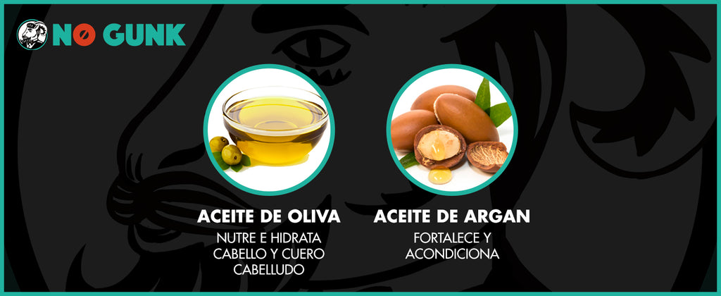 NO GUNK SPRAY DE ASEO INGREDIENTES ACEITE DE OLIVA ACEITE DE ARGAN