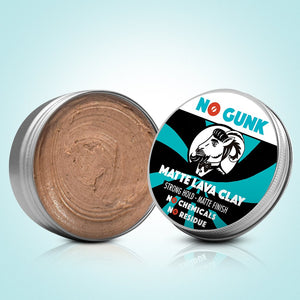 NO GUNK Natural Hair Styling Clay Paste Natural Hair Care Hair Product Matte Lava Clay Matt Clay Organic Hair Clay open