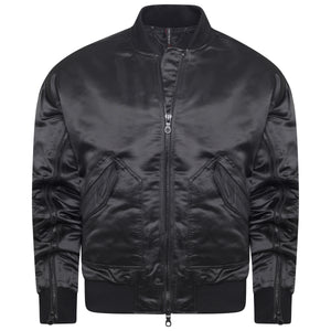 Triple Black Bomber Jacket Mens Streetwear