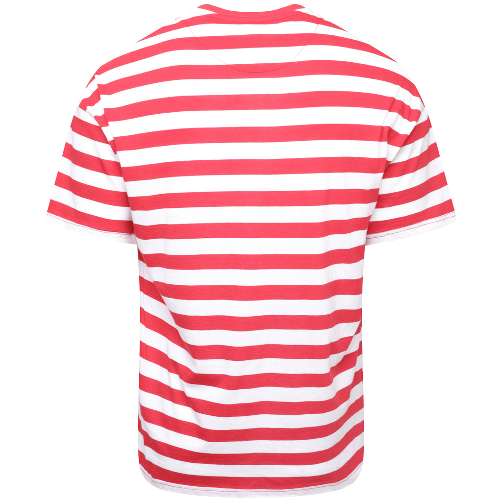 Striped t-shirt red white