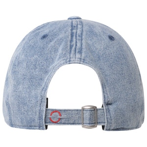 Cotton signature denim blue baseball hat