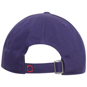 Purple baseball cap with adjustable metal buckle fastening by OTB
