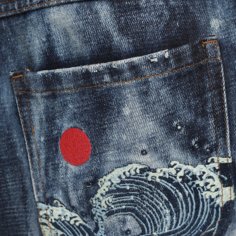 Selvedge Denim Ice Blue Heavy Bleached