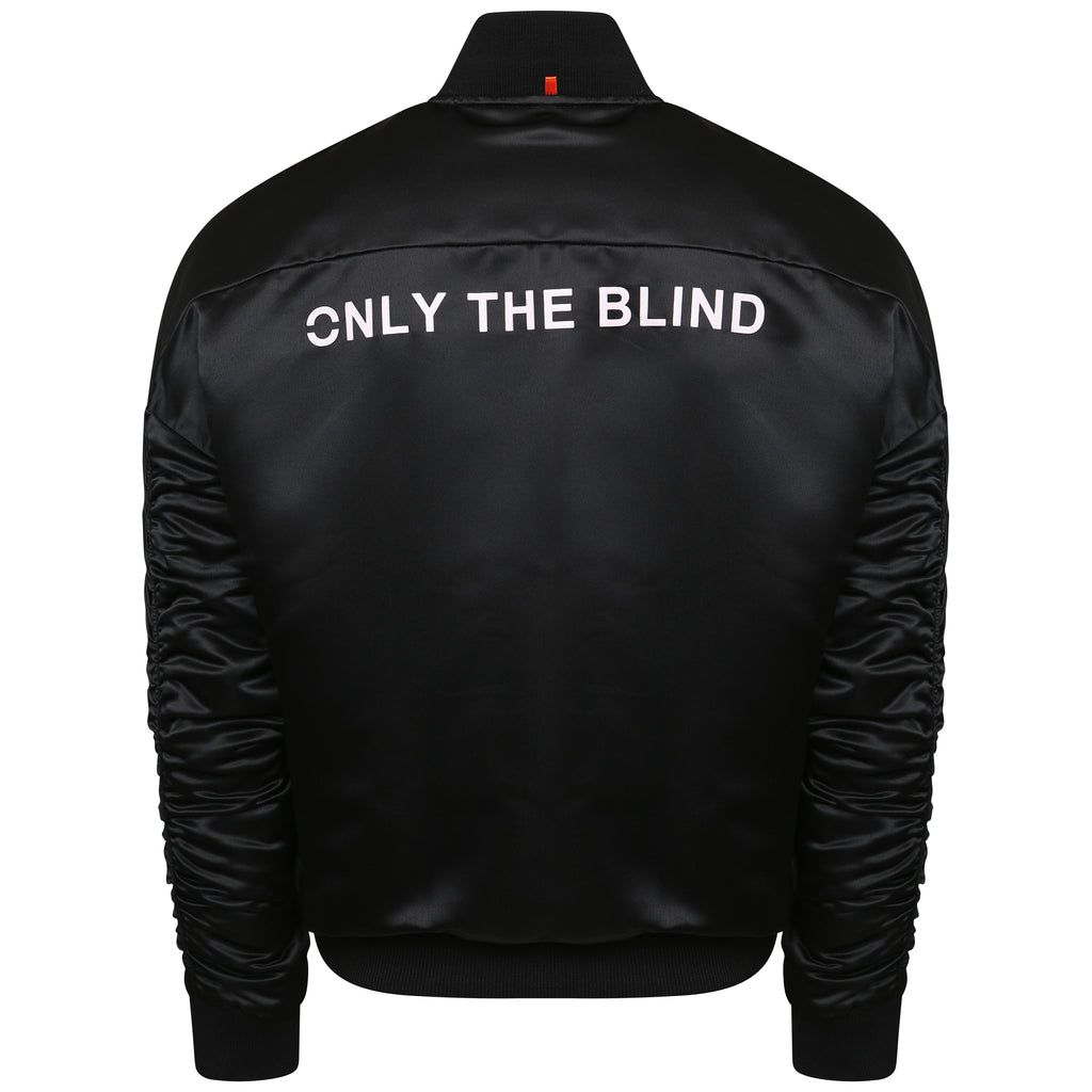 Signature Satin Black Bomber