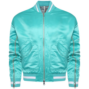 Signature satin tiffany bomber jacket