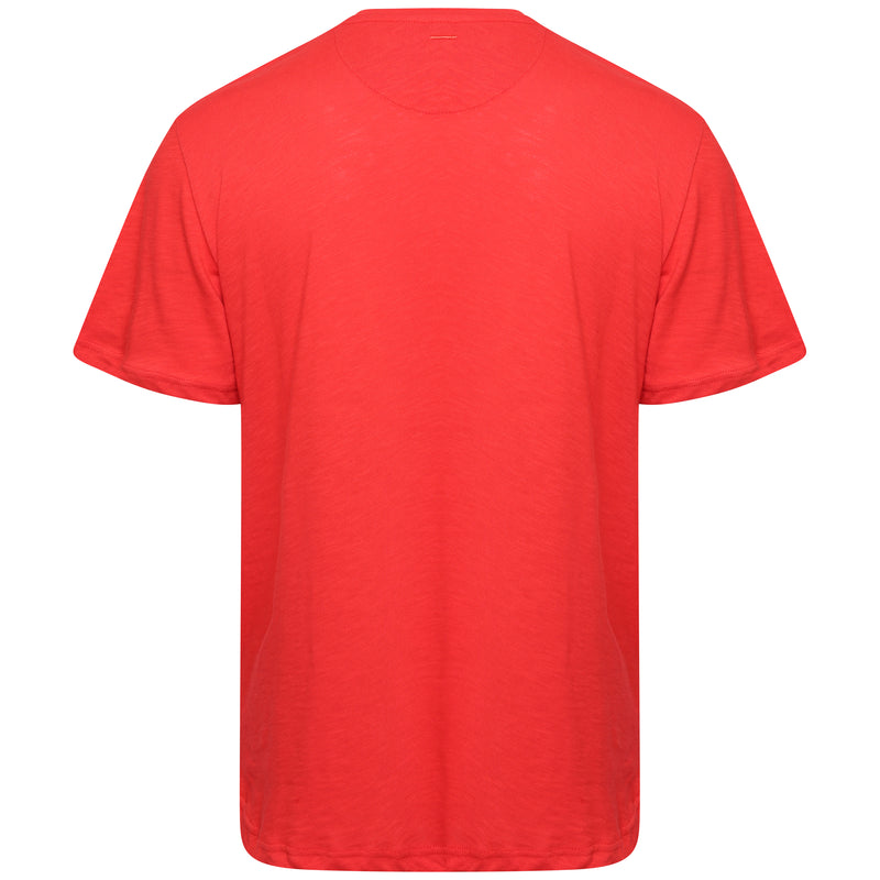 Slub cotton red T-Shirt