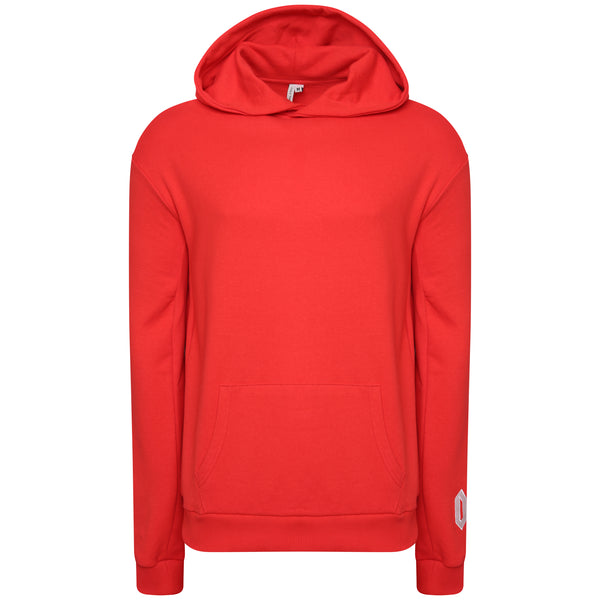 Cotton red statement sweatshirt