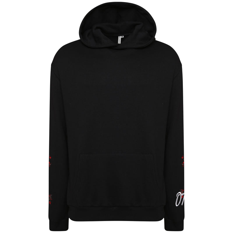 Blossom embroidered hooded ONLY THE BLIND sweatshirt