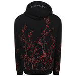 Cotton black embroidered blossom sweatshirt
