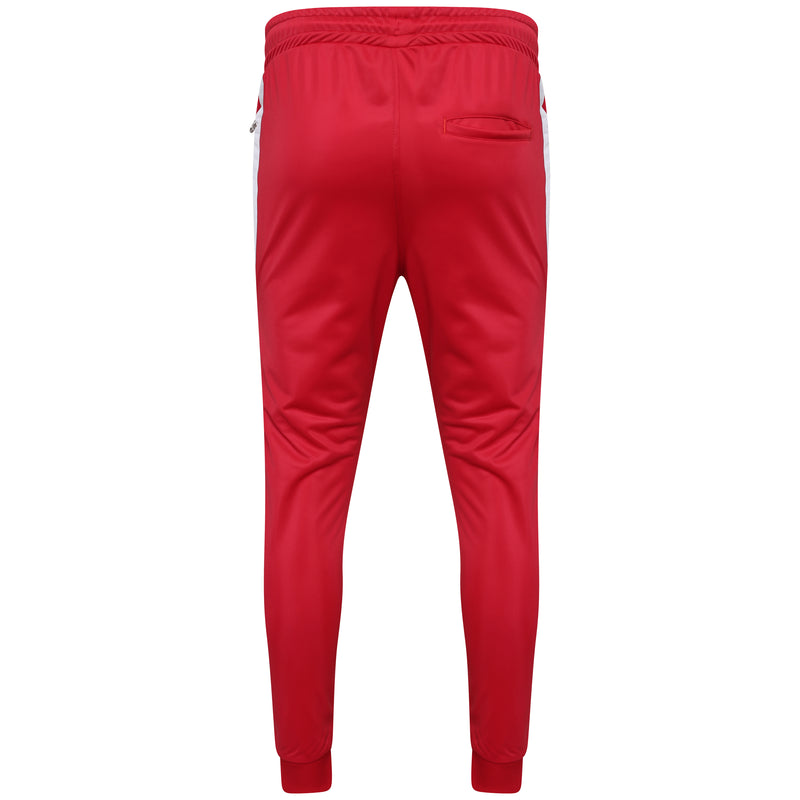 Technical red poly pant