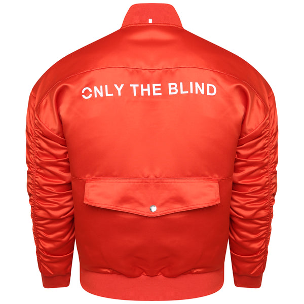 Signature Satin Grenadine Bomber Jacket