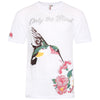 Slub cotton embroidered hummingbird T-Shirt