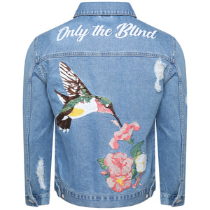 Denim jacket with embroidery (light blue)