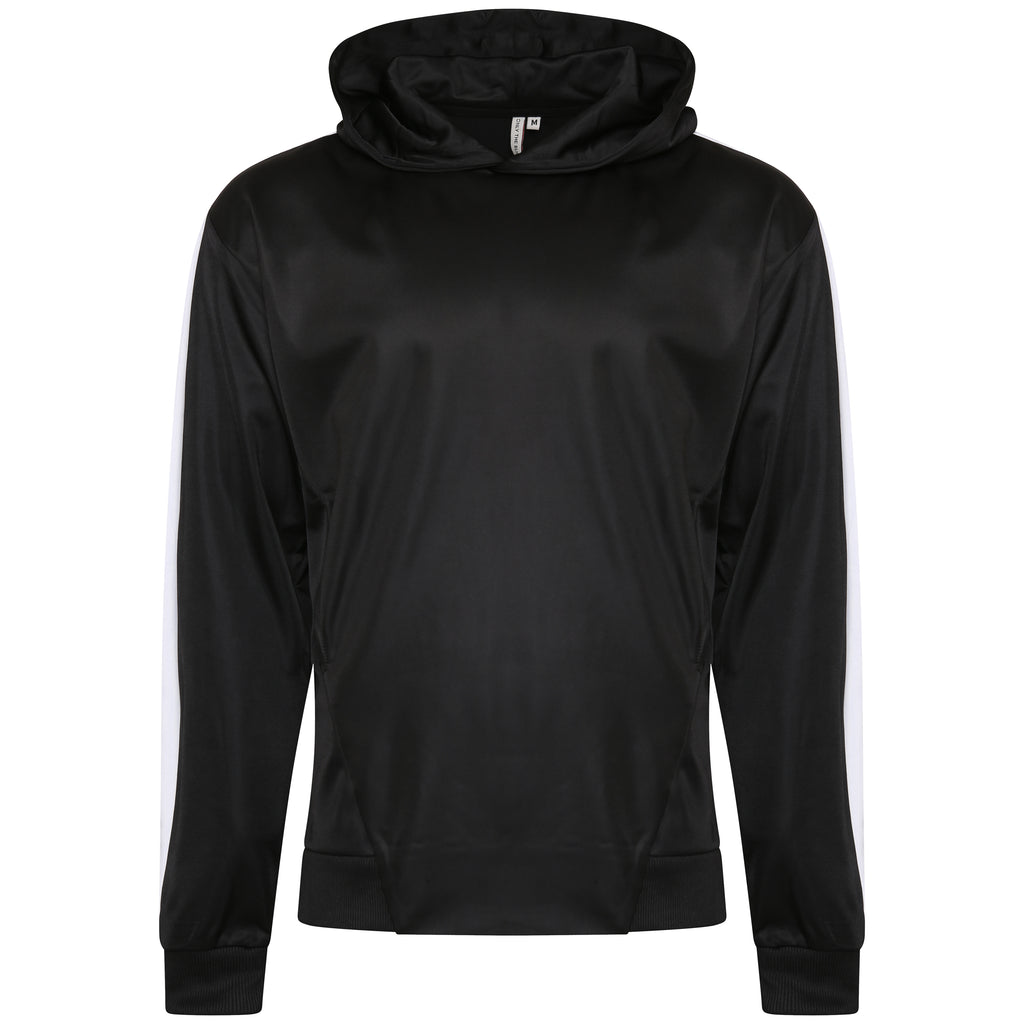Technical black poly sweatshirt
