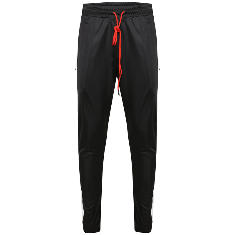 Technical black poly pant