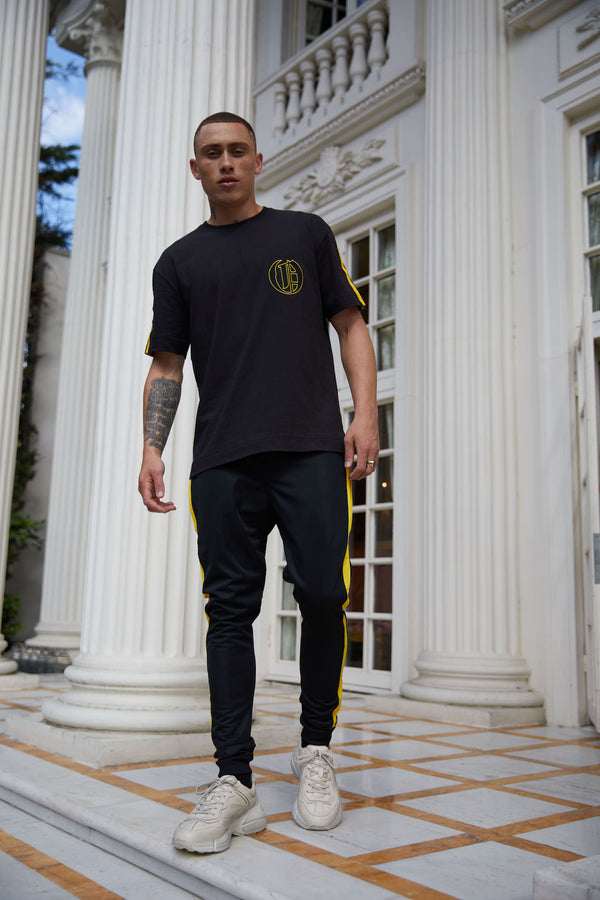 Black crew logo embroidered T-Shirt