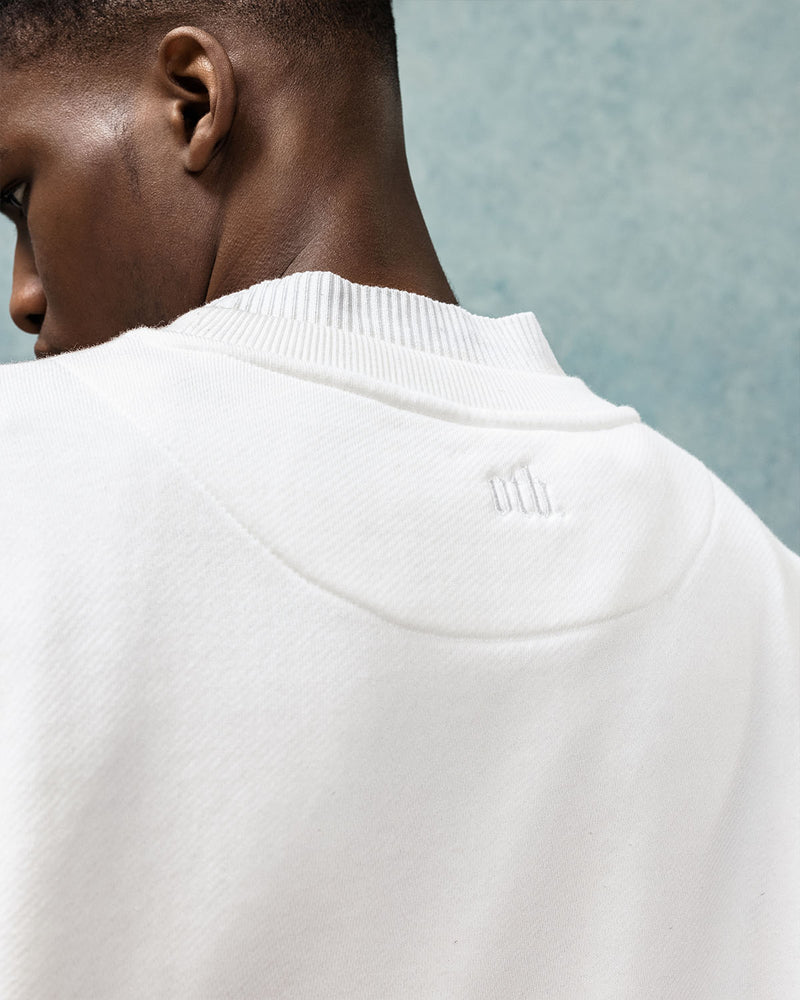 Ivory High-Neck Sweatshirt