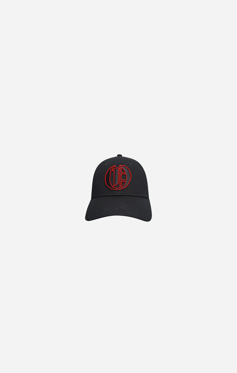Black & Red Crew Baseball Cap