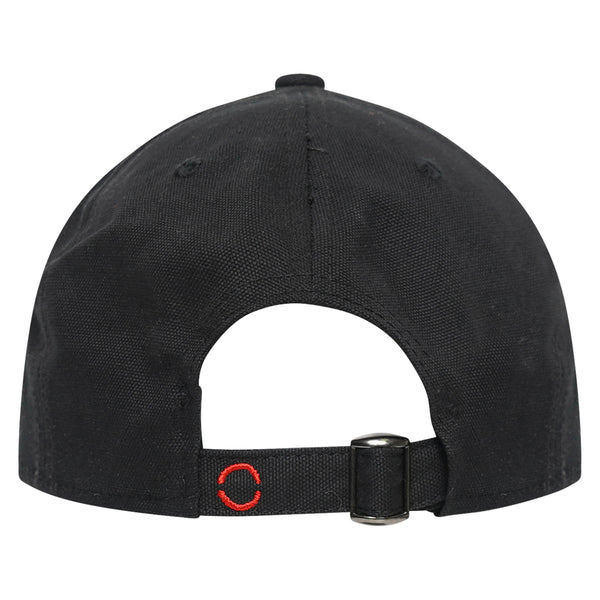 Cotton signature black baseball hat