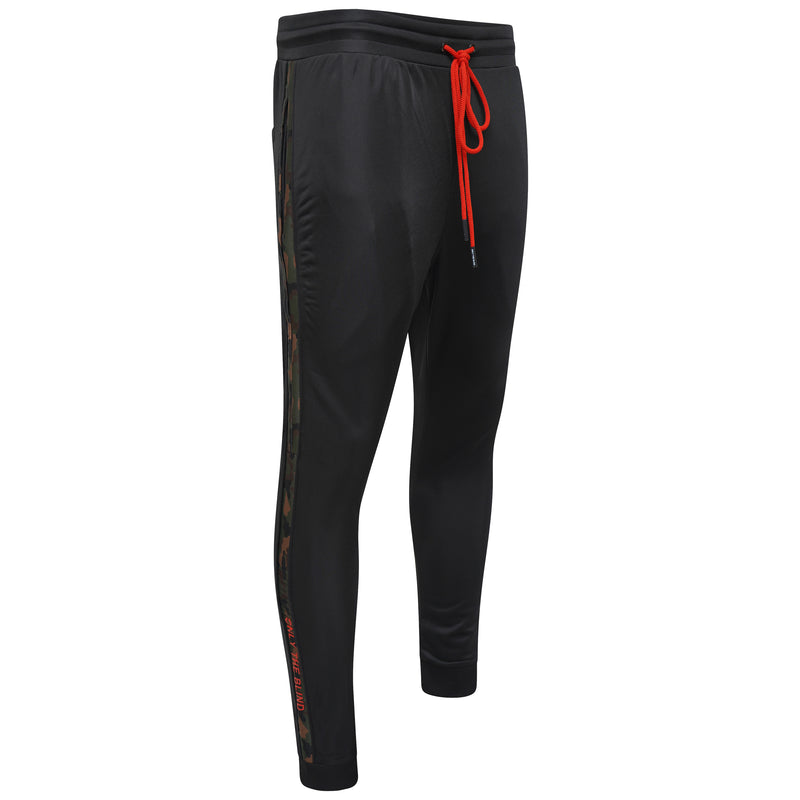 Technical Black Camo Poly Pants