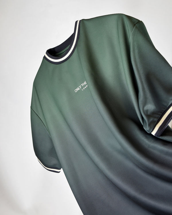 Olive Fade Mesh Jersey