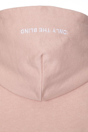 Only The Blind essential hoodie dust pink