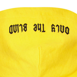 Yellow Only The Blind Arch Logo embroidered hood