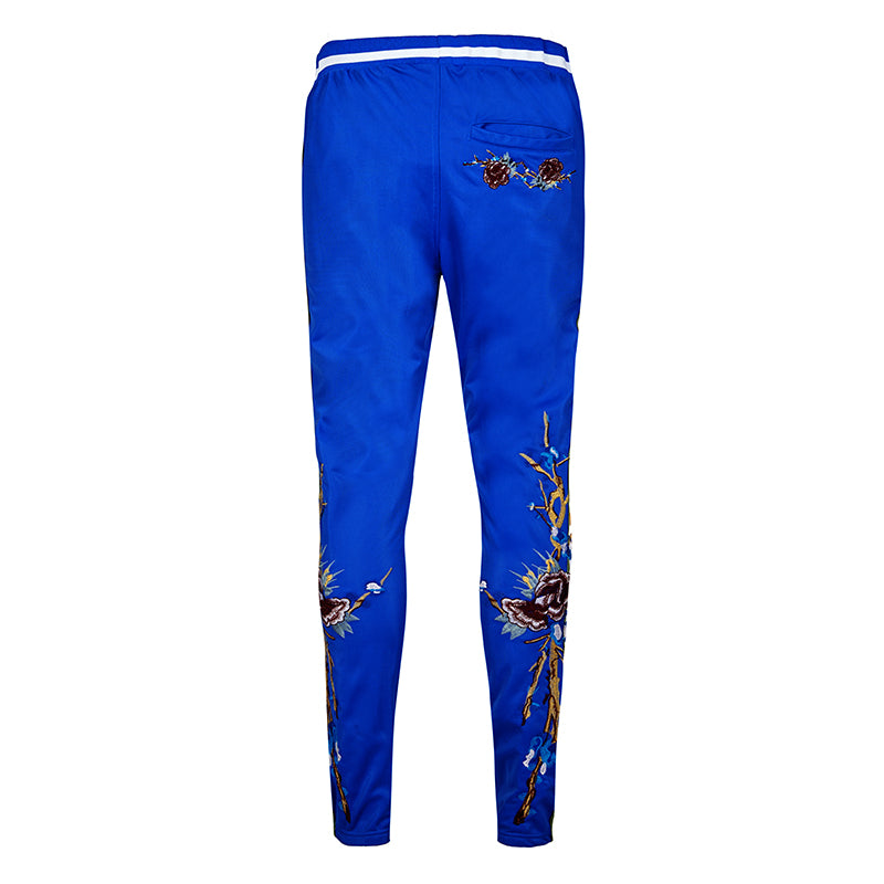 Blue Collection - Poly Cotton Floral Jersey Joggers