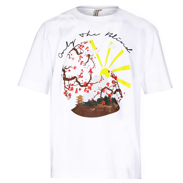 White Mountain Sunset printed T-Shirt