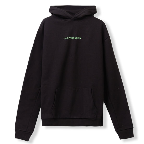Essential Cotton Black Neon Green Sweatshirt
