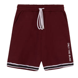 Cotton Maroon Jersey Shorts
