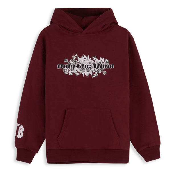 Cotton Maroon Statement Sweatshirt