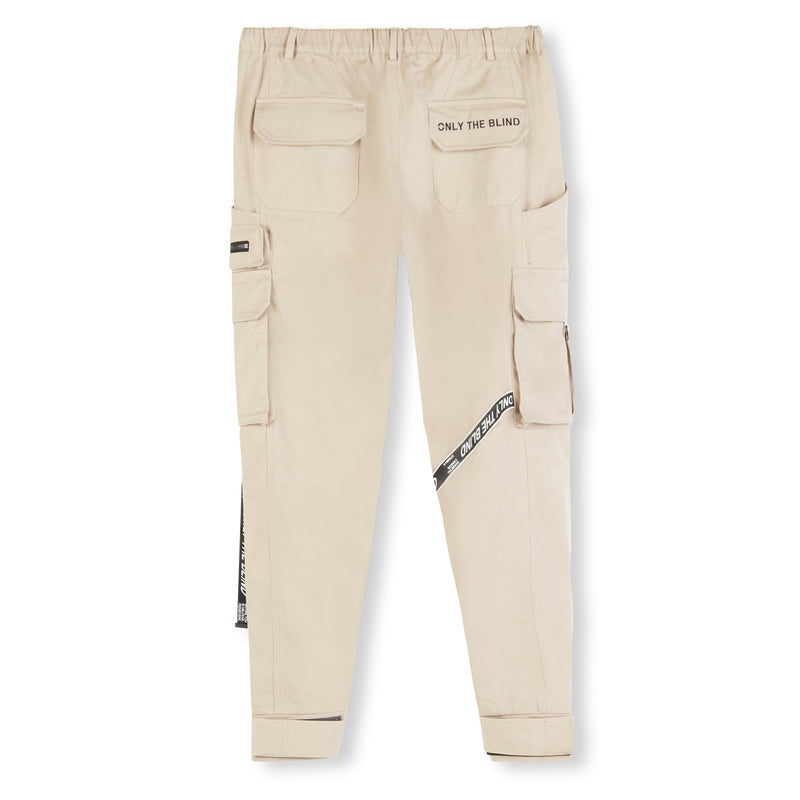 Taupe Strapped Cargo Bottoms