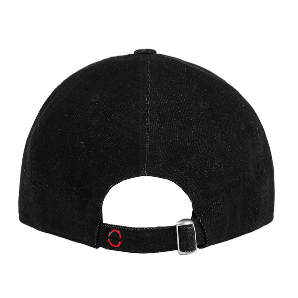 Denim Black Logo Baseball Cap