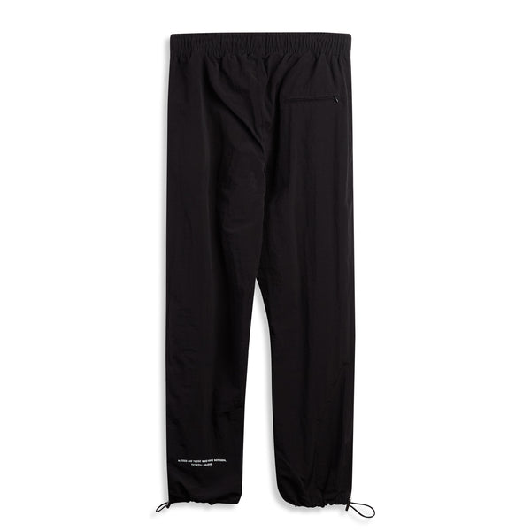 Black Textured Nylon Joggers