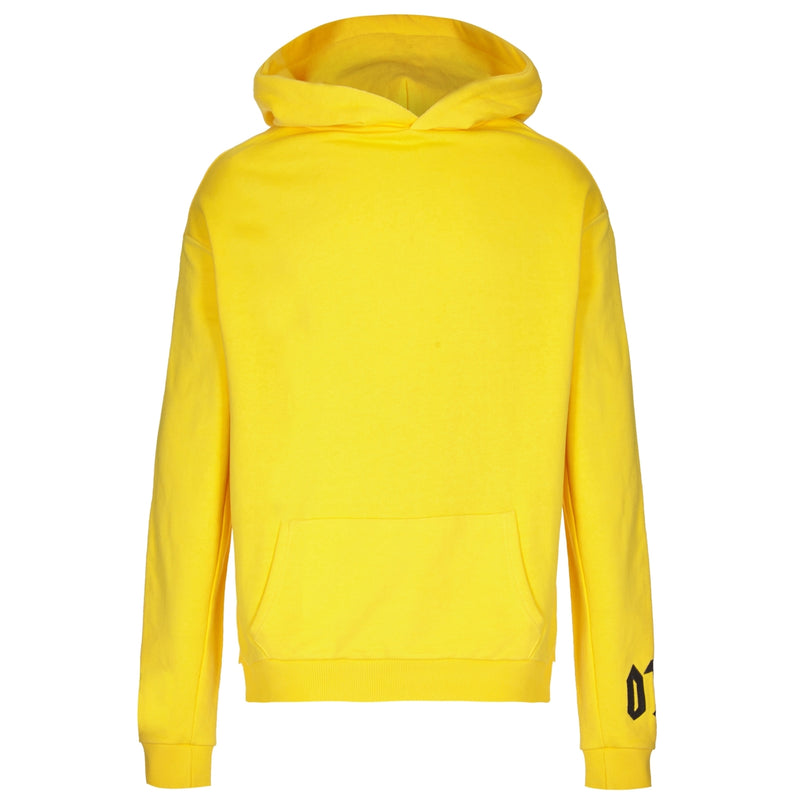 Cotton Yellow Statement Sweatshirt