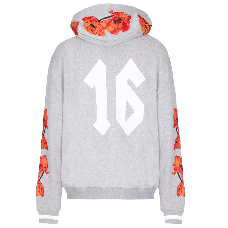 Cotton Embroidered Poppy Sweatshirt