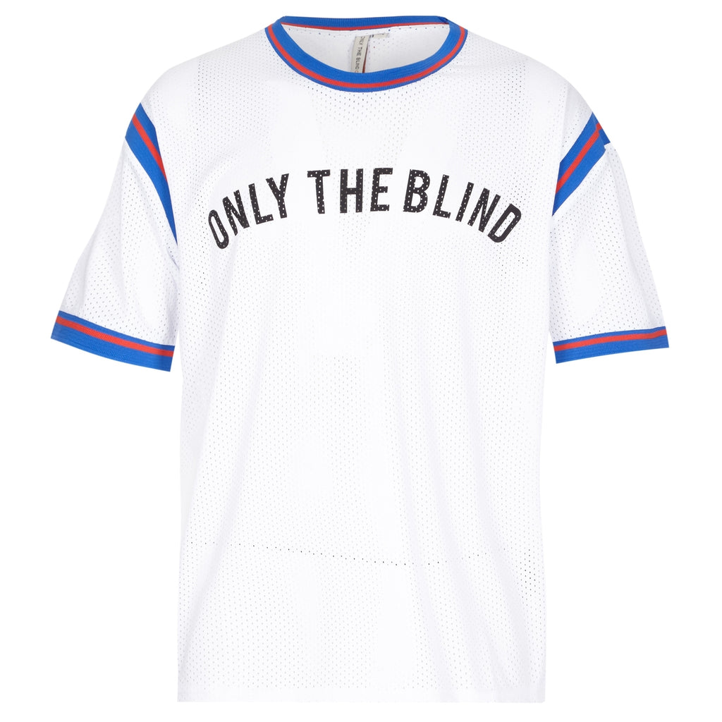ONLY THE BLIND arch logo text sports jersey