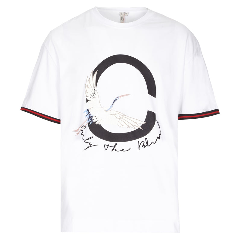 White heron printed T-Shirt